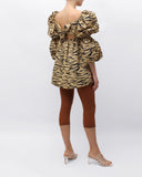 Kayla Top Tiger Print Beige
