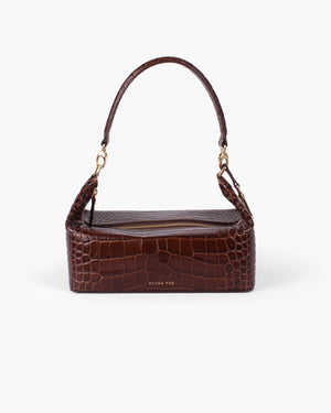 Olivia Bag Leather Croc Brown