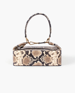 Olivia Bag Leather Snake Beige