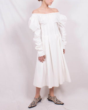 Carla Dress Cotton Off-White