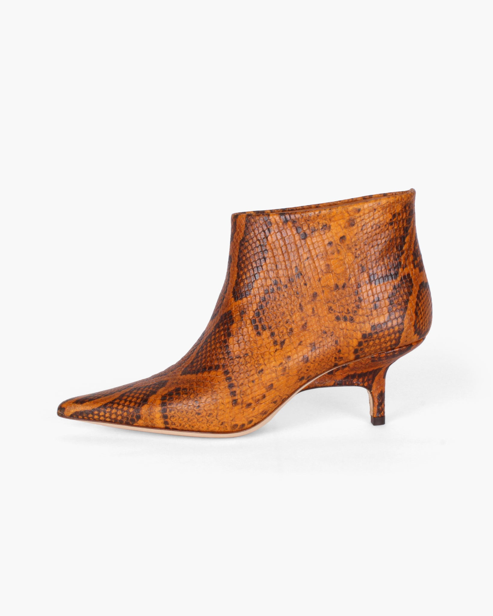 Sara Boot Leather Python-Effect Orange - WEBSHOP EXCLUSIVE