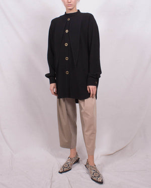 Andrea Shirt Japanese Crepe Black