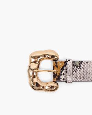 Boule Belt Leather Snake Multi