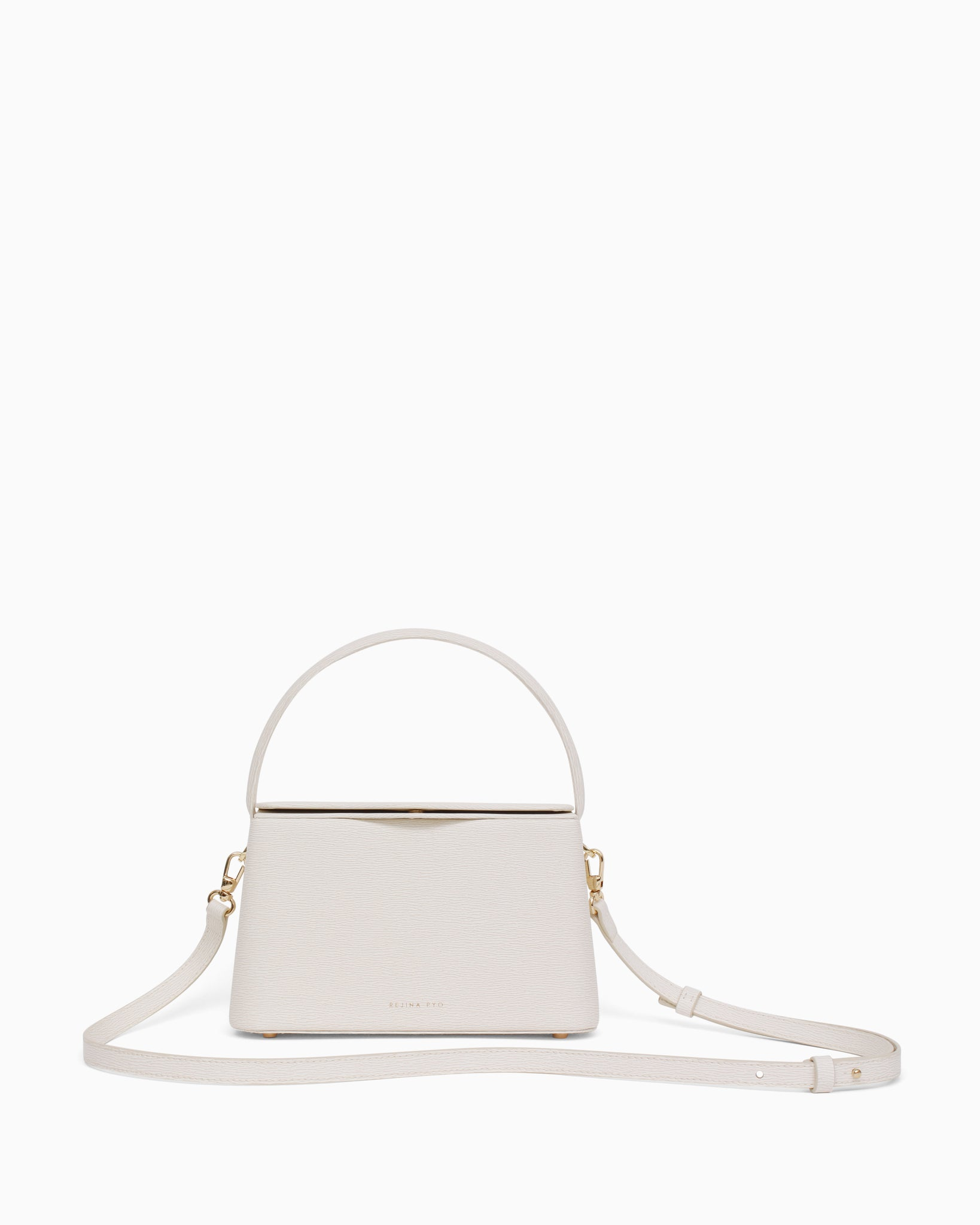 Mini Felix Bag Leather Texture White