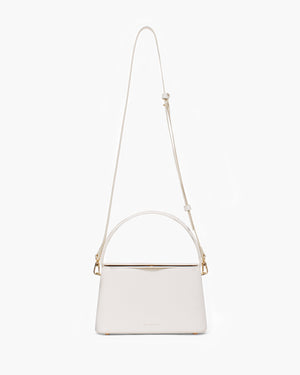 Felix Bag Small Leather Texture White