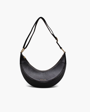Banana Bag Leather Crinkle Black