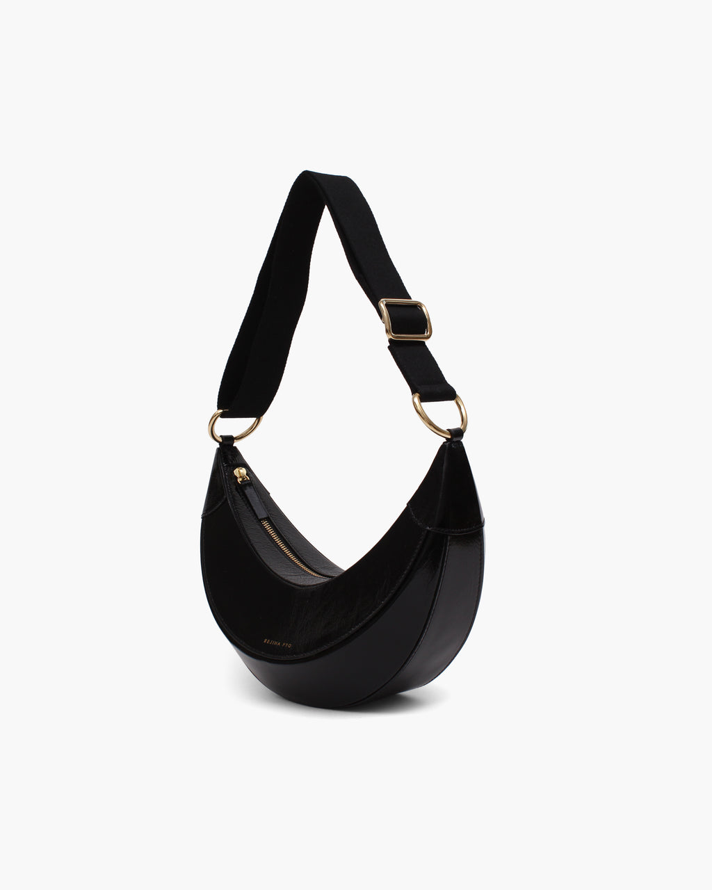 Banana Bag Leather Crinkle Black - WEBSHOP EXCLUSIVE