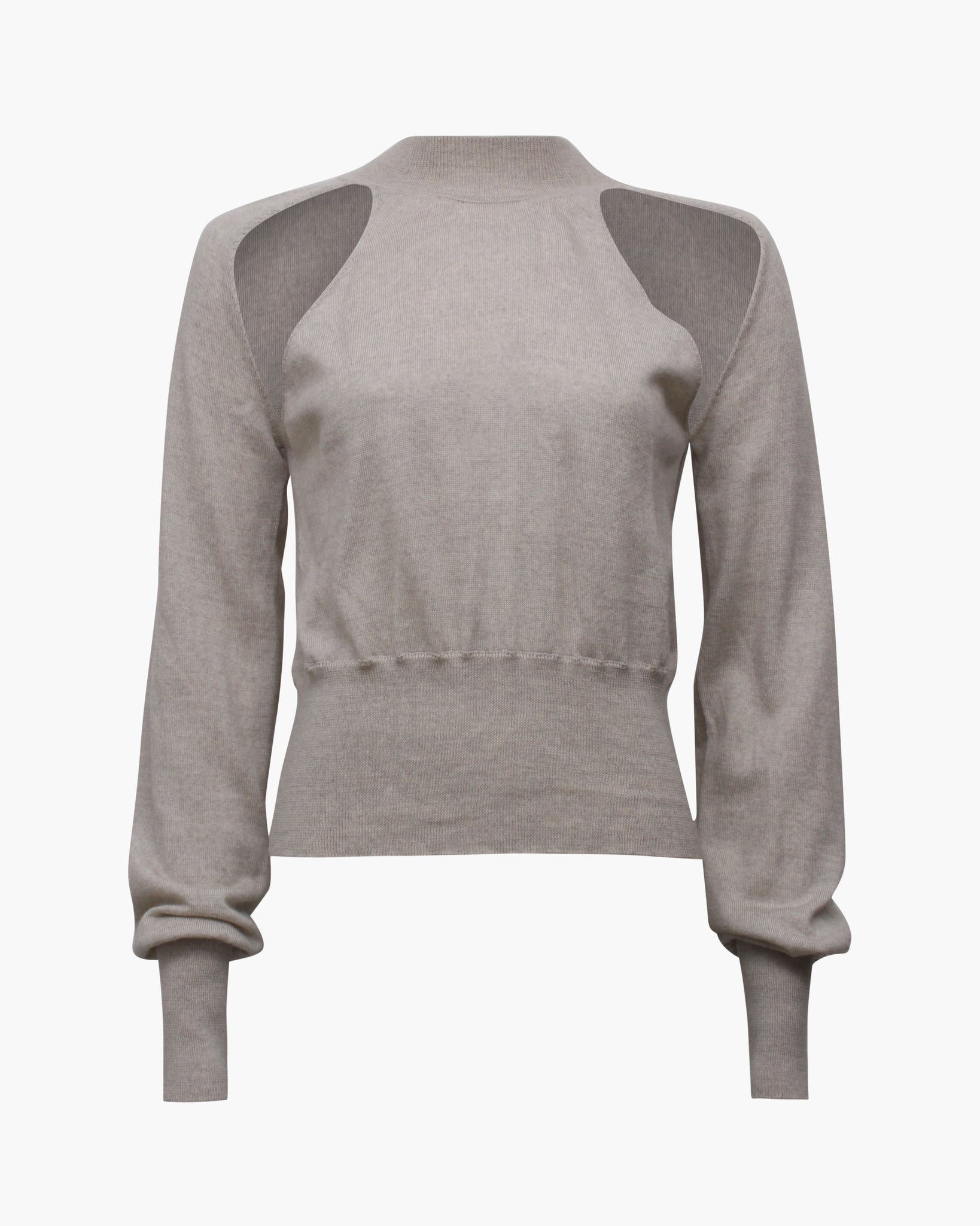 Morgan Sweater Merino Wool Cashmere Blend Oat