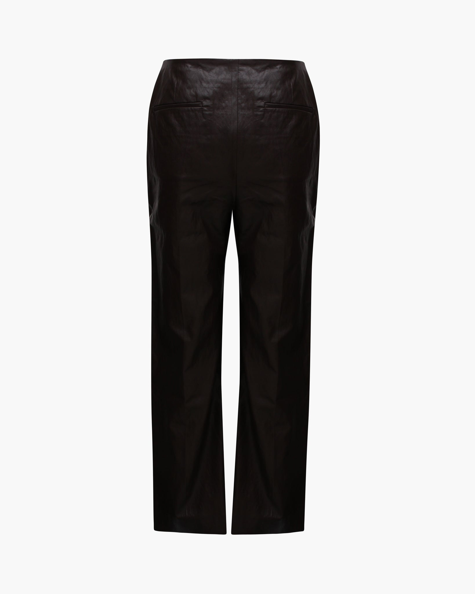 Lexi Trousers Faux Leather Brown