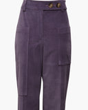 Sadie Trousers Cotton Velvet Mauve