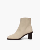 Alana Boots Leather Nappa Cream