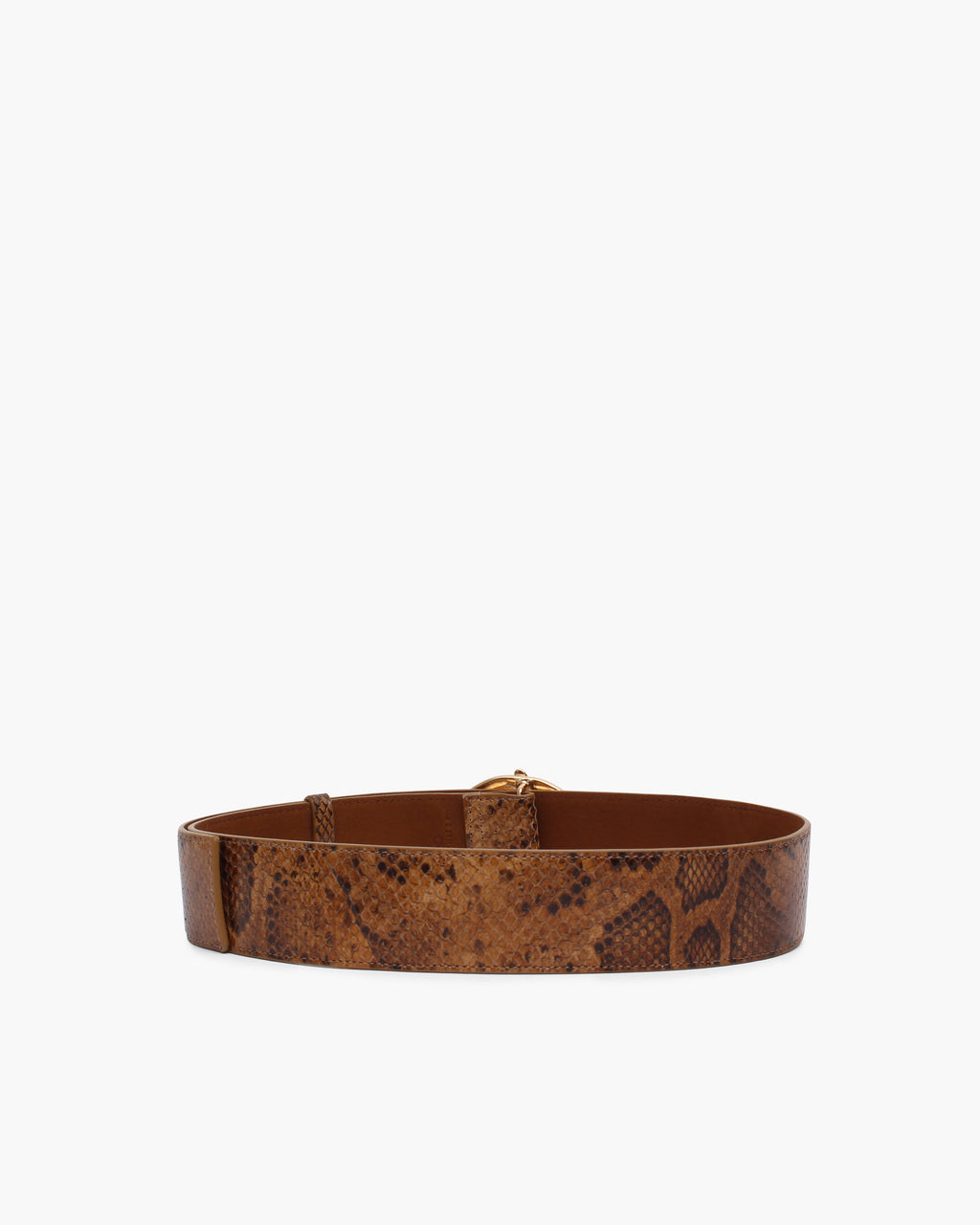 Carly Belt Leather Print Snake Nut