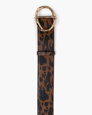 Carly Belt Leather Print Jatai Brown