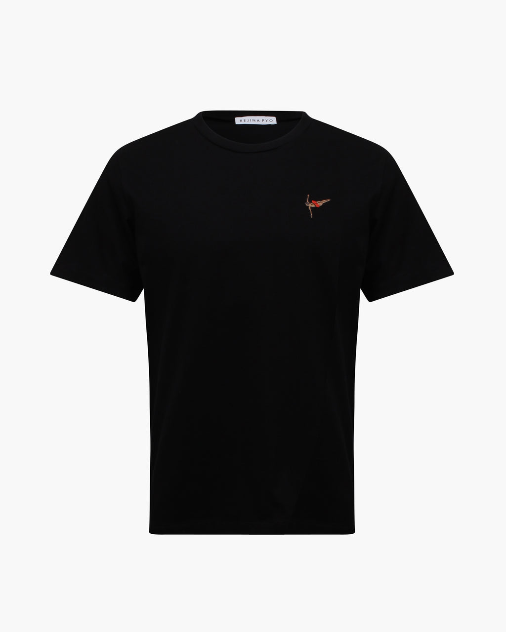 Rhys T-shirt Cotton Jersey Black Embroidery - WEBSHOP EXCLUSIVE
