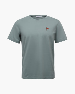 Rhys T-shirt Cotton Jersey Mint Embroidery