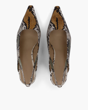 Dylan Slingbacks Leather Snake Multi - SPECIAL PRICE