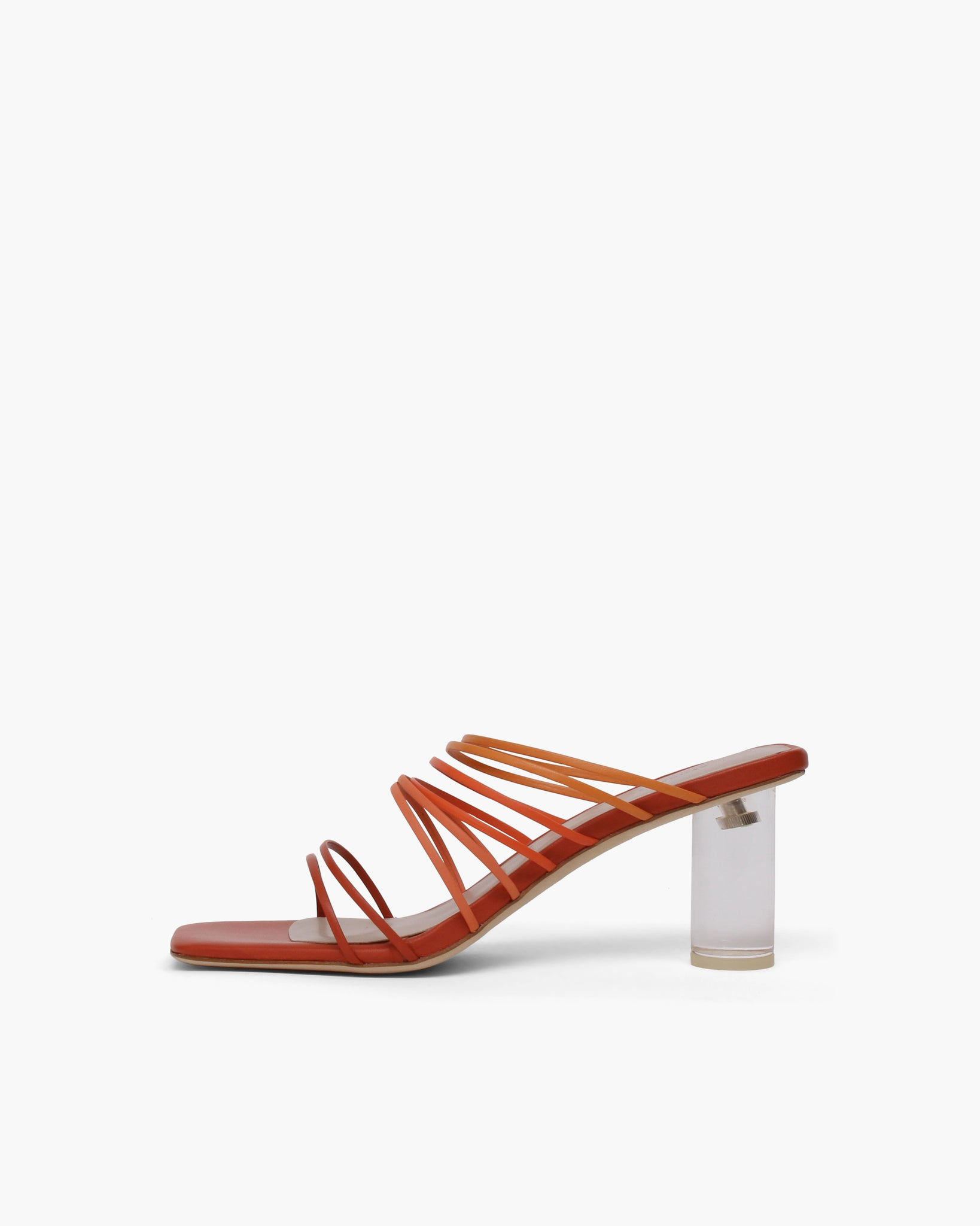 Zoe Sandals Leather Ombre Rust - SPECIAL PRICE