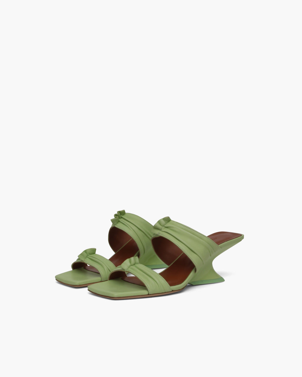 Camilla Sandals Leather Melon Green