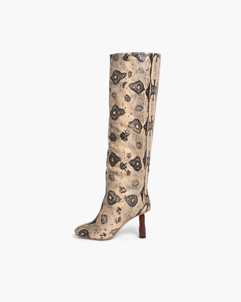 Allegra Boots Leather Print Boa Beige - WEBSHOP EXCLUSIVE - ADDITIONAL 10% OFF SALE PRICE
