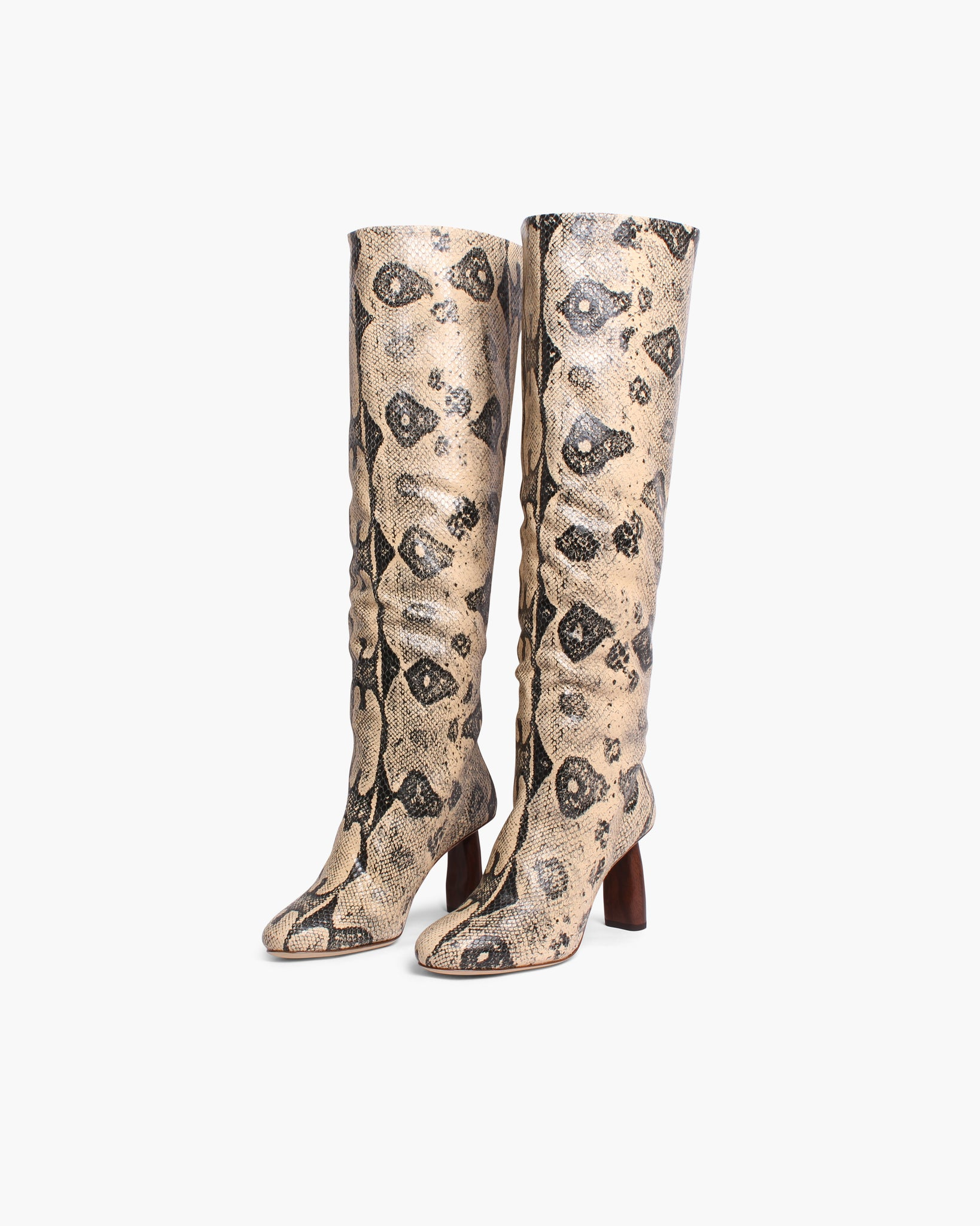 Allegra Boots Leather Print Boa Beige - WEBSHOP EXCLUSIVE - SPECIAL PRICE