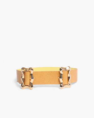 Luna Belt Leather Emboss Camel - SPECIAL PRICE