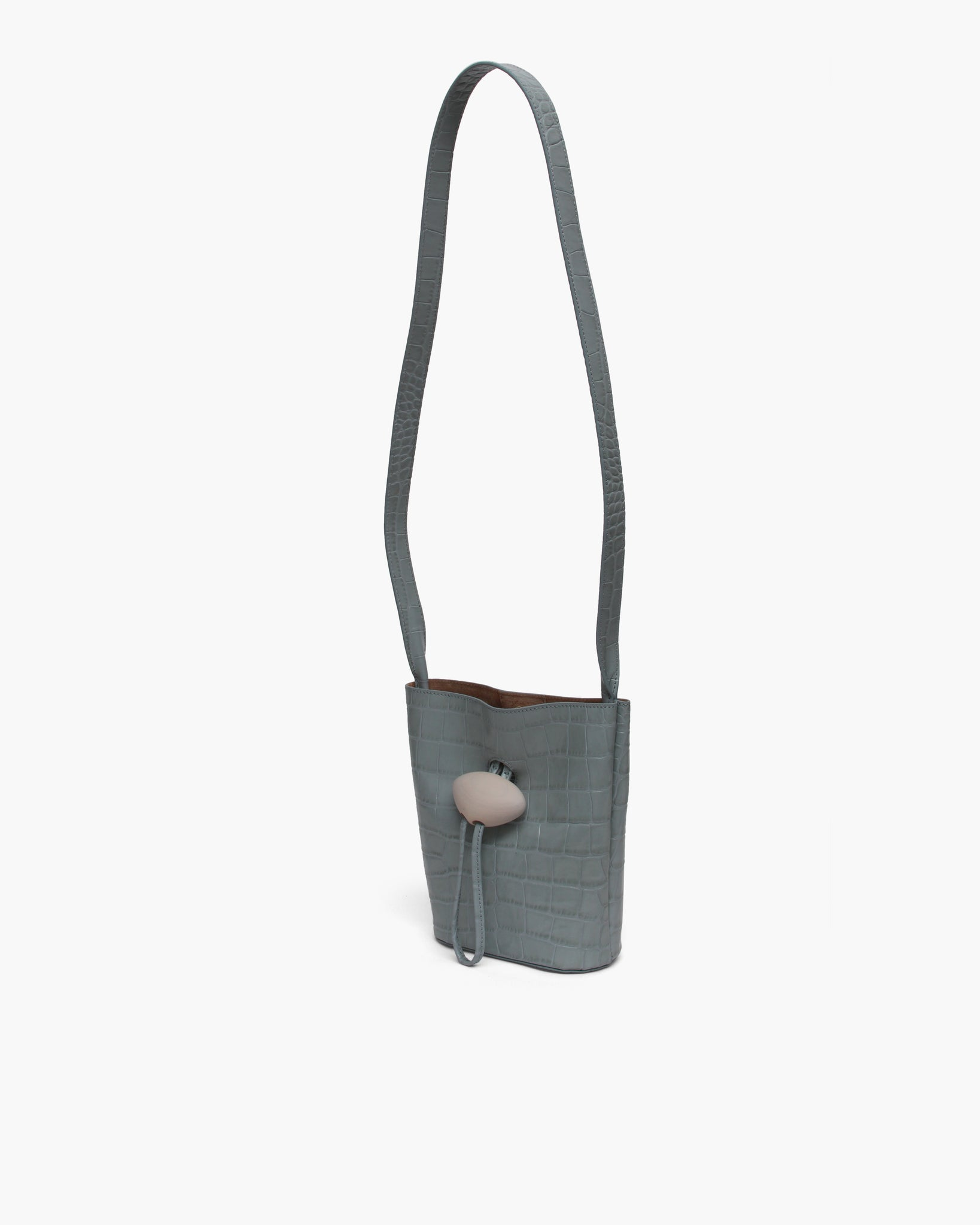 Camila Bag Leather Duck Egg + White Wood - SPECIAL PRICE