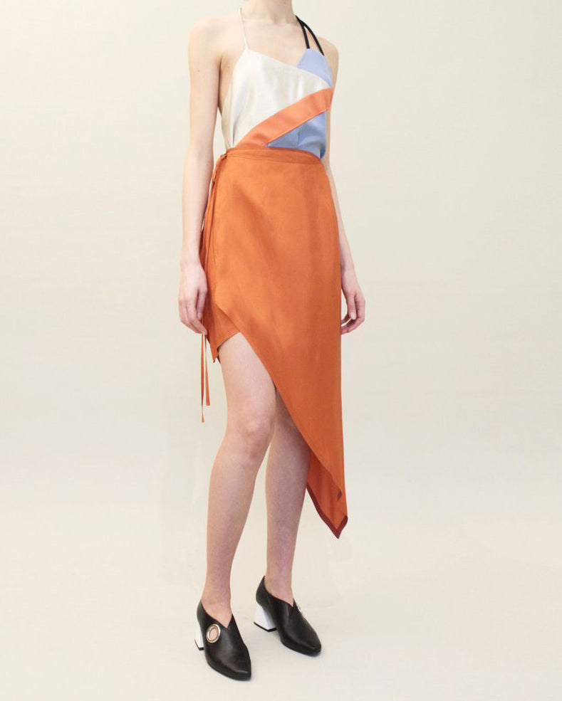 Gaby Wrap Skirt Orange