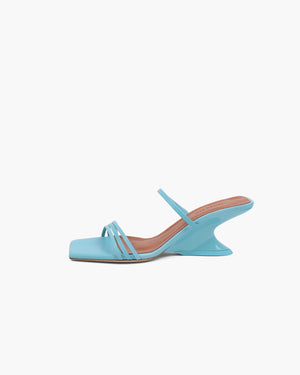 Romy Sandal 60mm Leather Jewel Blue