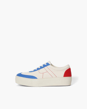 Bailey Sneakers Cotton Canvas Blue + Red