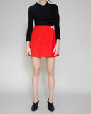 Hailey Wrap Skirt Crepe Red - SPECIAL PRICE