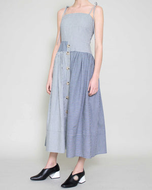 Issy Strap Dress Cotton Stripe