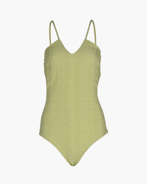 Ava One-piece Seersucker Green