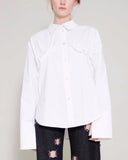 Annie Shirt Stretch Poplin Cotton Ivory