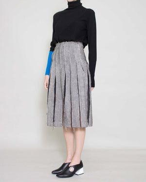 Olivia Pleated Skirt Grey
