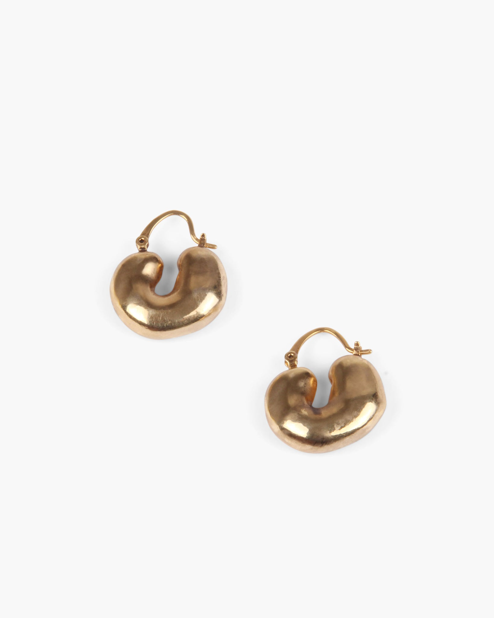 Crescent Hoops Gold Plated