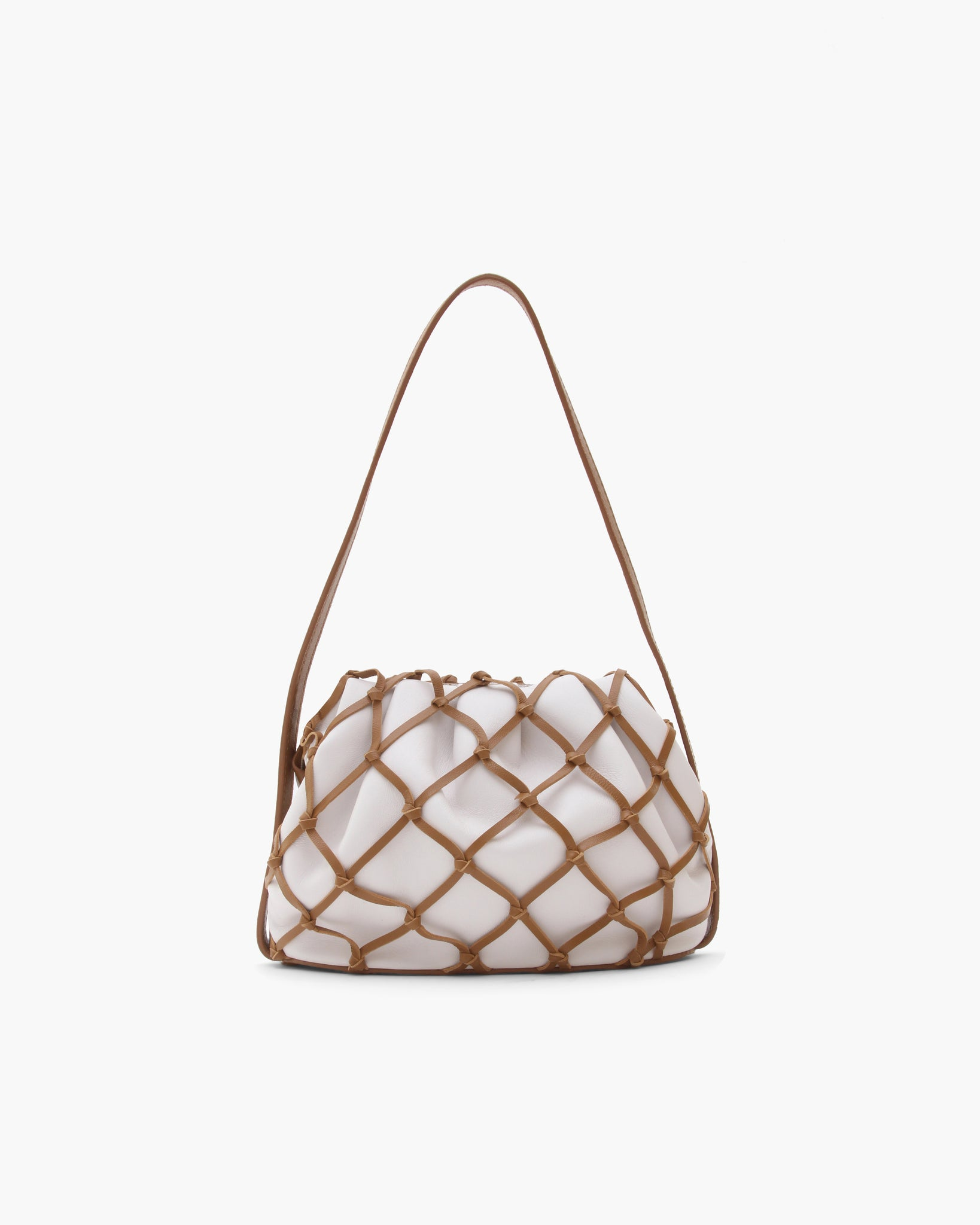 Sonny Bag Leather Ivory + Brown