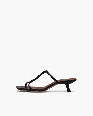 Cleo Sandals Leather Black