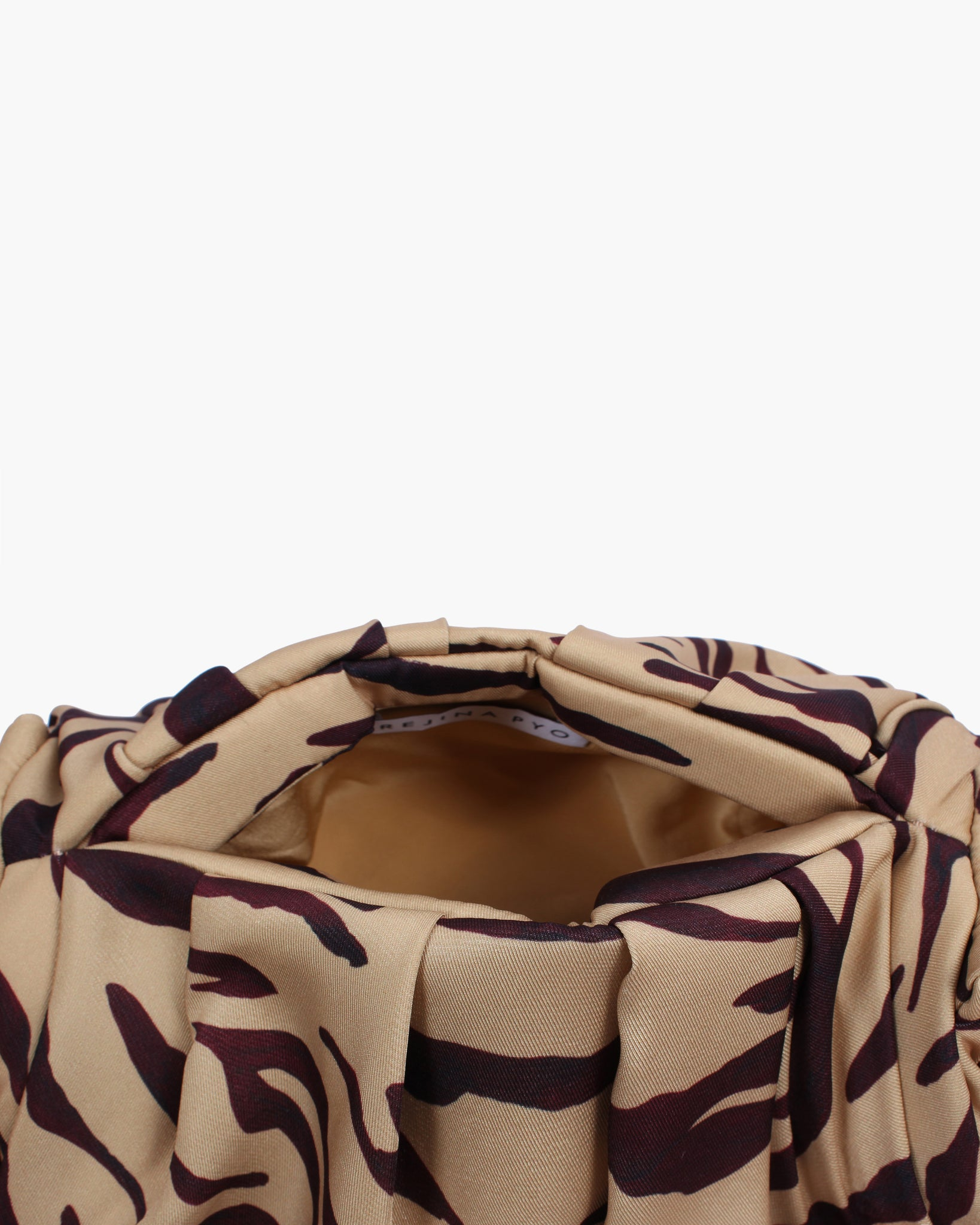 Nane Bag Cotton Print Tiger Beige