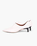 Este Slipper Leather White