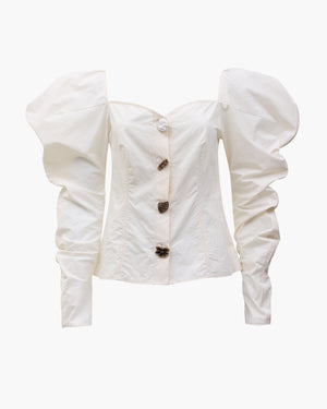 Odelia Top Cotton Off-White