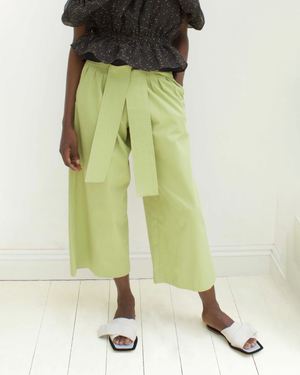 Ivy Trousers Cotton Sage Green