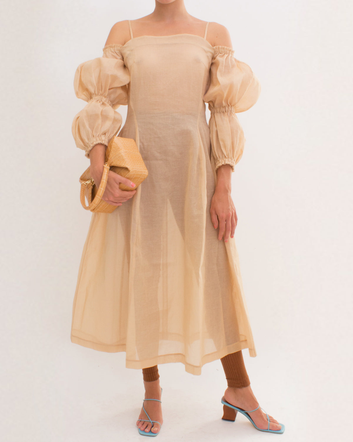 Lorna Dress Cotton Voile Taupe