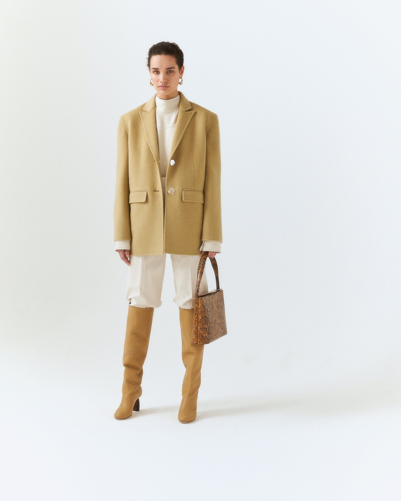 Bowen Jacket Wool Beige
