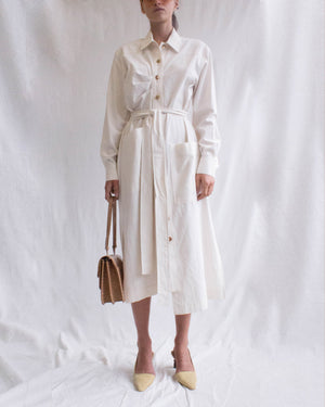 Madison Dress Linen Ecru - SPECIAL PRICE
