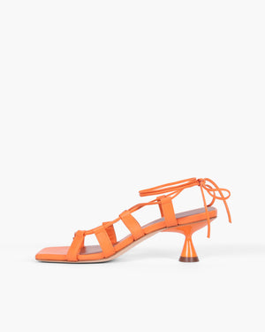 Malia Sandals Leather Orange