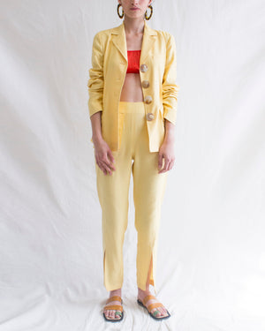 Miller Trousers Linen Butter Yellow - SPECIAL PRICE