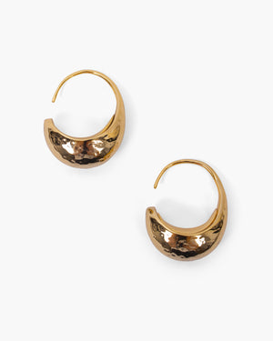 Moon Hoops Gold Plated