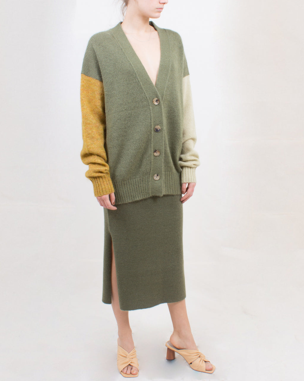 Pernille Skirt Mohair Blend Moss Green - SPECIAL PRICE