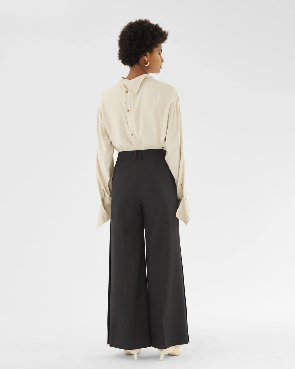 Ingrid Trousers Wool Blend Black