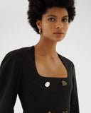 Camila Dress Wool Blend Black